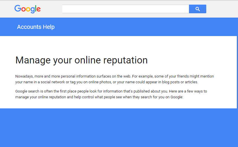 Me on the Web – Google alat za upravljanje online reputacijom a.k.a. Google Alerts