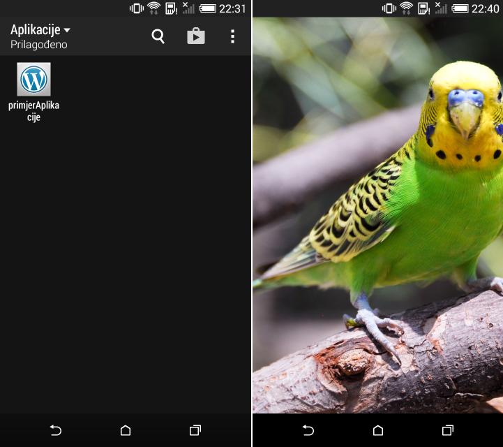 Nova ikona i početni zaslon Ionic aplikacije