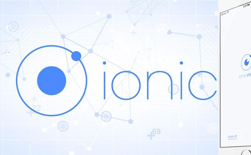 Što je Ionic View?