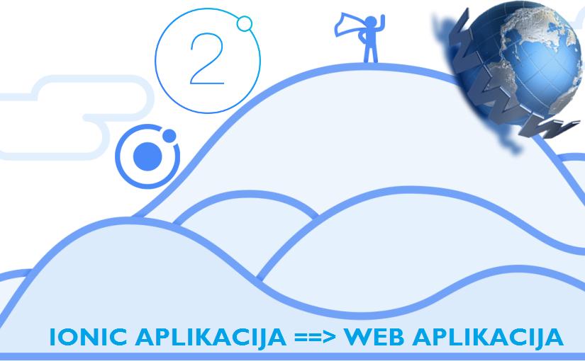 Prikaz Ionic aplikacije kao web aplikacije