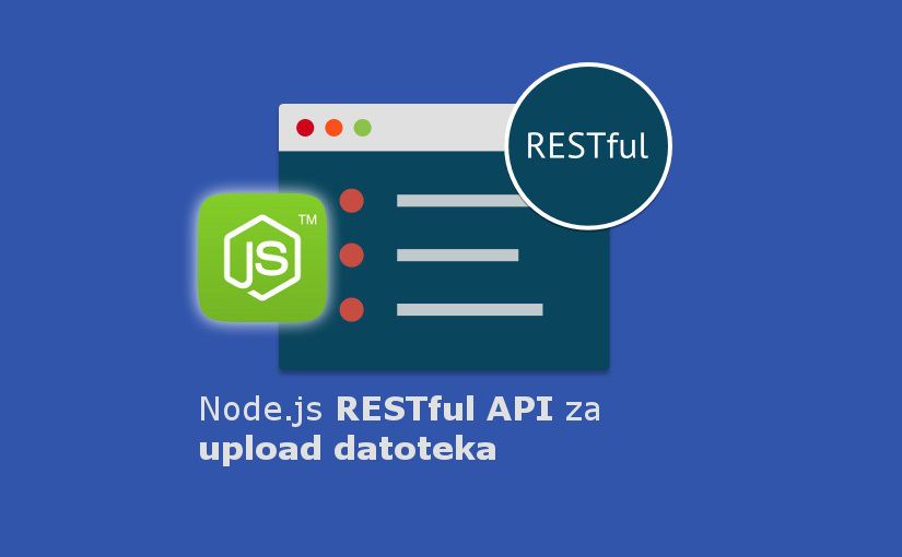 Node.js RESTful API za upload datoteka