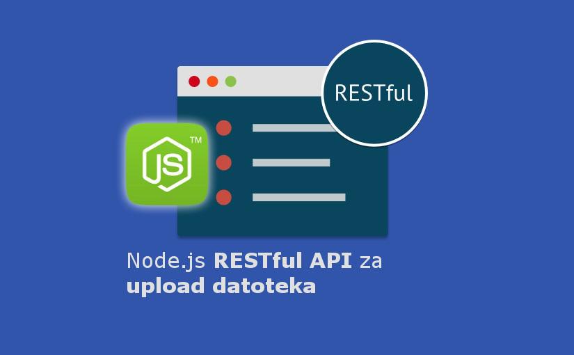 Node.js RESTful API za upload datoteka