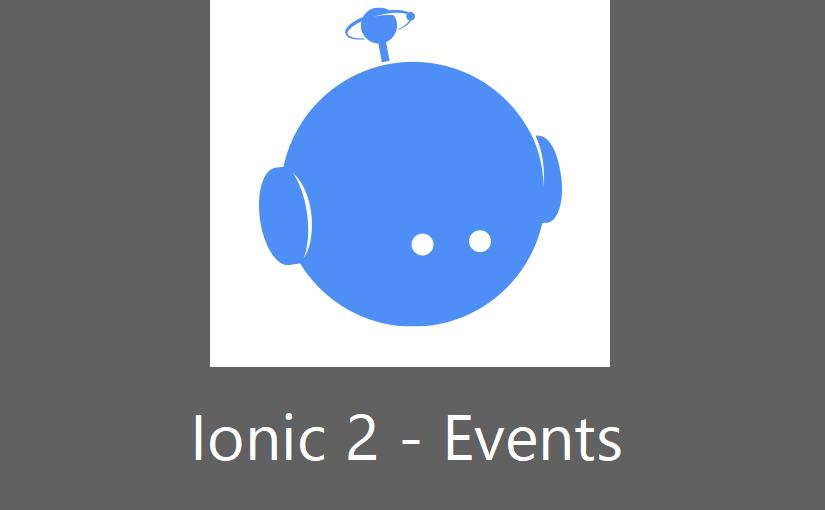 Ionic 2 – Events, upravljanje događajima