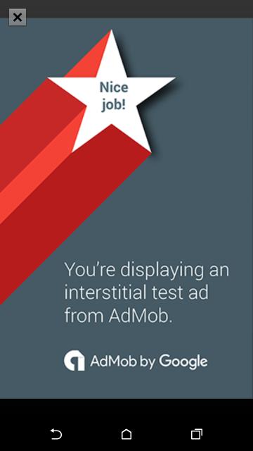 AdMob - oglas preko cijele stranice