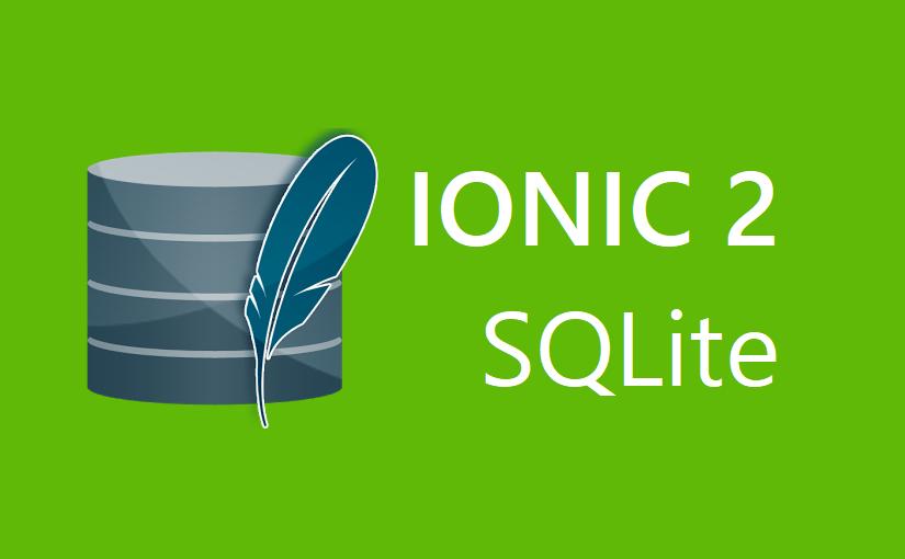 Ionic 2 i SQLite
