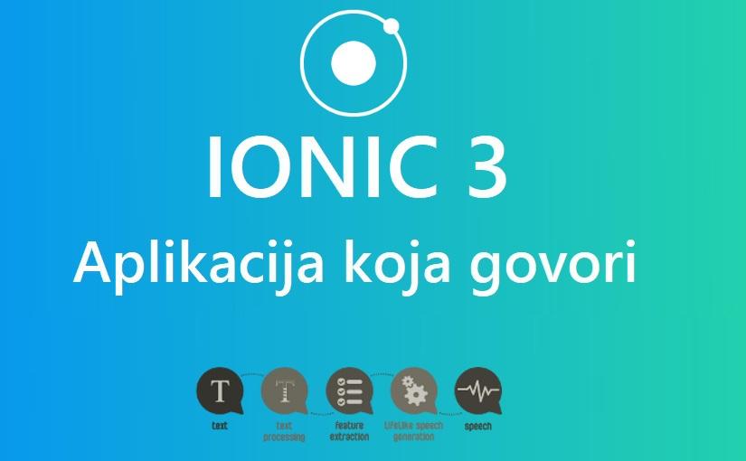 Ionic 3 - aplikacija koja govori