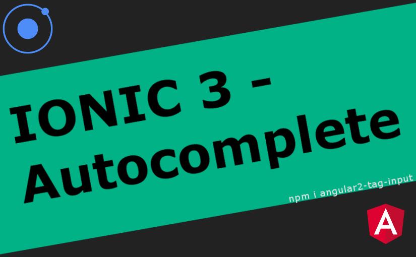 Ionic 3 – Autocomplete polje za unos