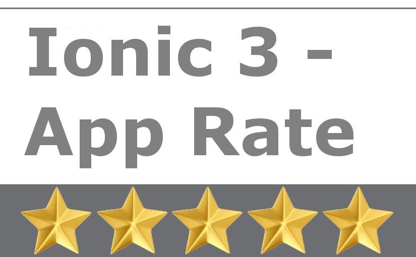 Ionic 3 - App Rate - zatražite od korisnika da ocijeni vašu aplikaciju