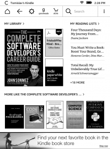Amazon Kindle Paperwhite 2015 screenshot