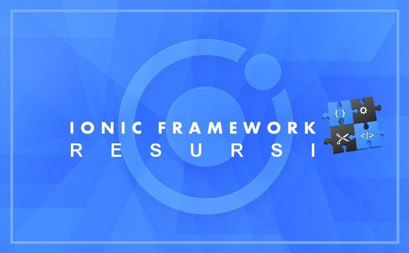 Ionic Framework resursi