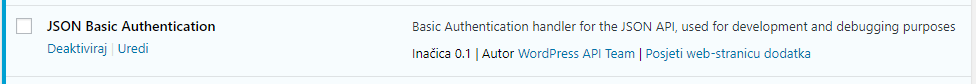 JSON Basic Authentication