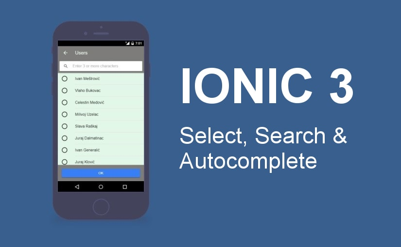 Ionic 3 – select, search i autocomplete komponenta