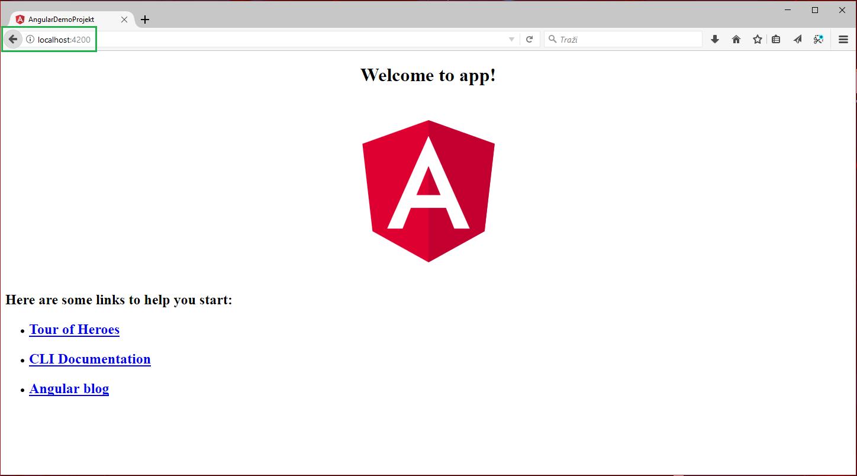 Angular Demo CLI projekt localhost