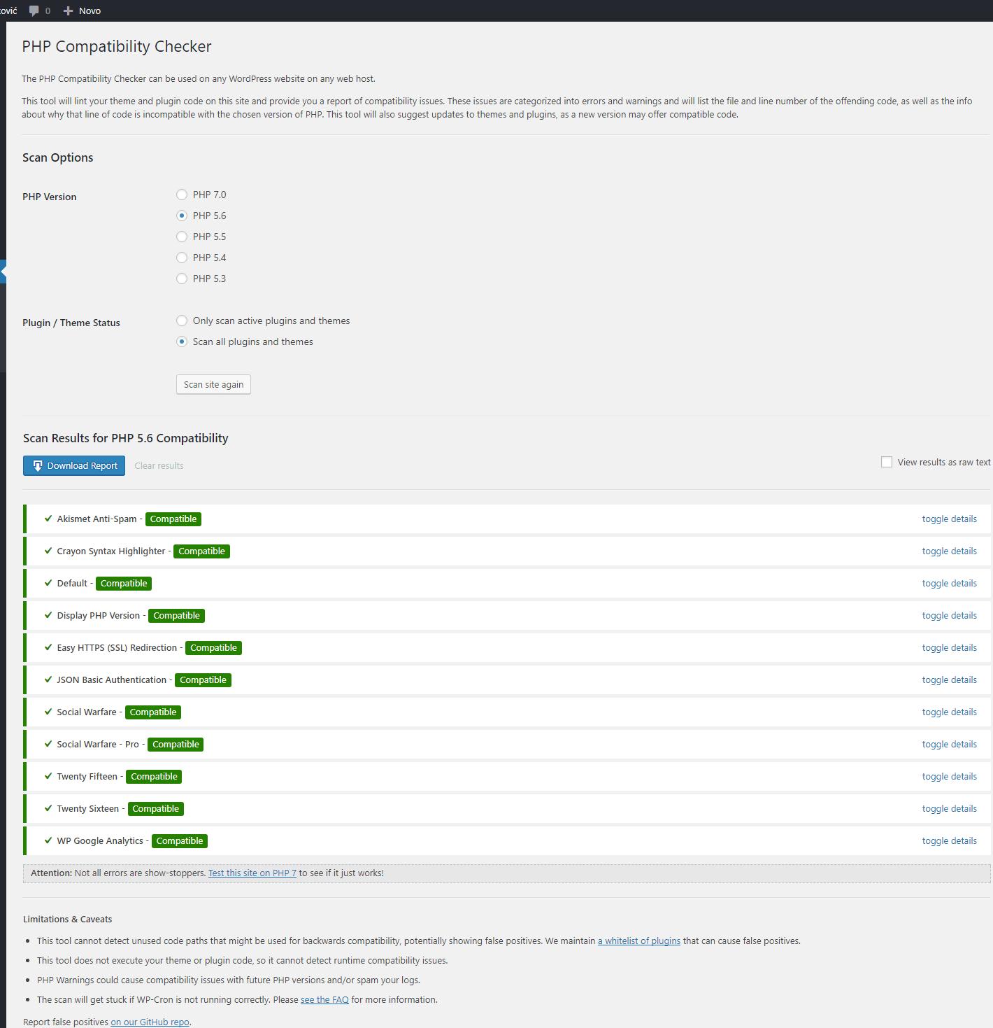 Promjena verzije PHP-a za WordPress