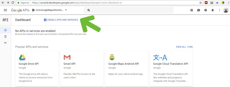 Google Developer konzola - aktivacija API-ja