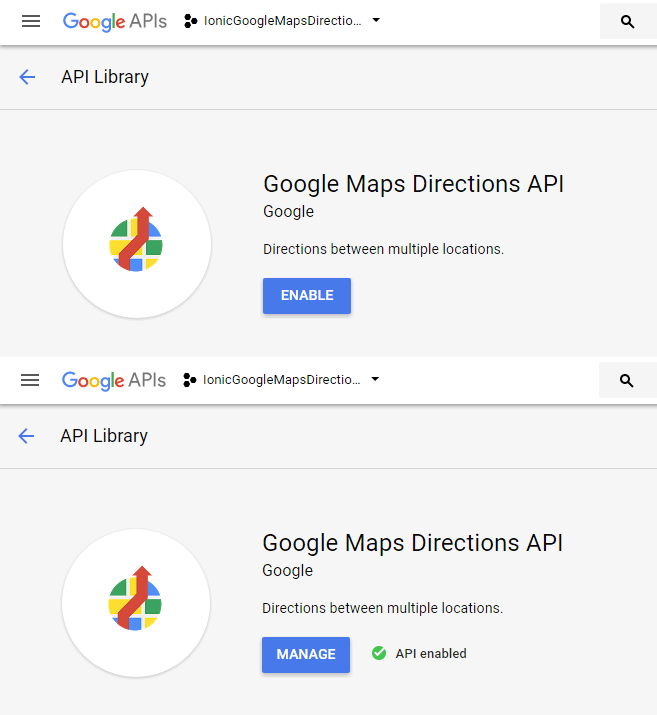 Google Maps Directions API