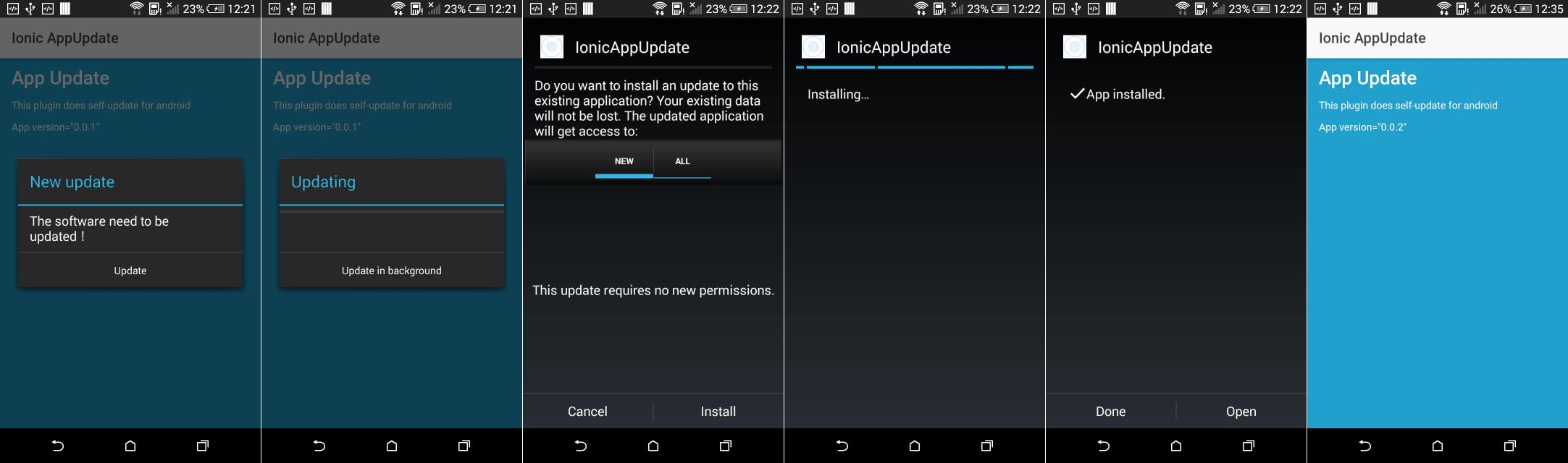 Ažuriranje Ionic Android aplikacije
