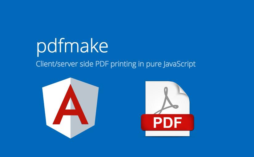 Angular - kreiranje PDF-a koristeći pdfMake