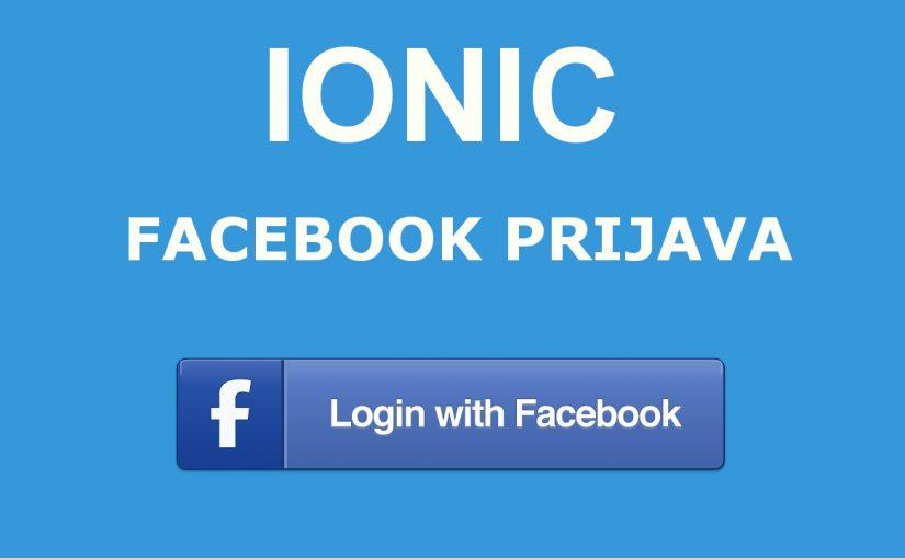 Ionic 3 – Facebook prijava