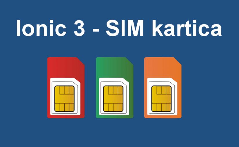 Ionic 3 - prikaz informacija o SIM kartici