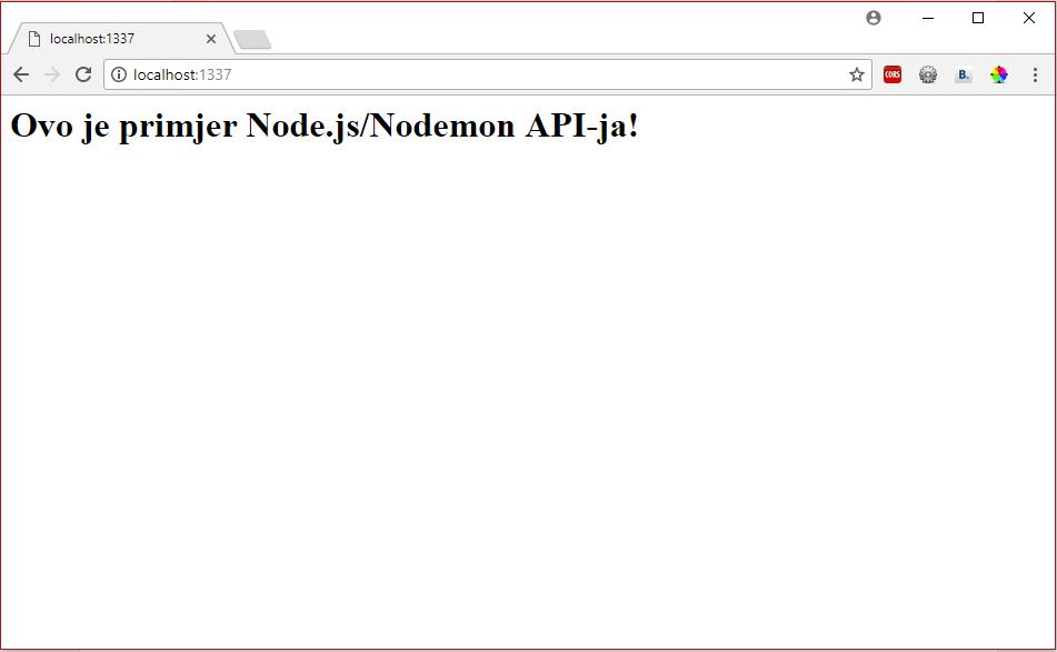 nodemon – automatski restart NodeJS aplikacije