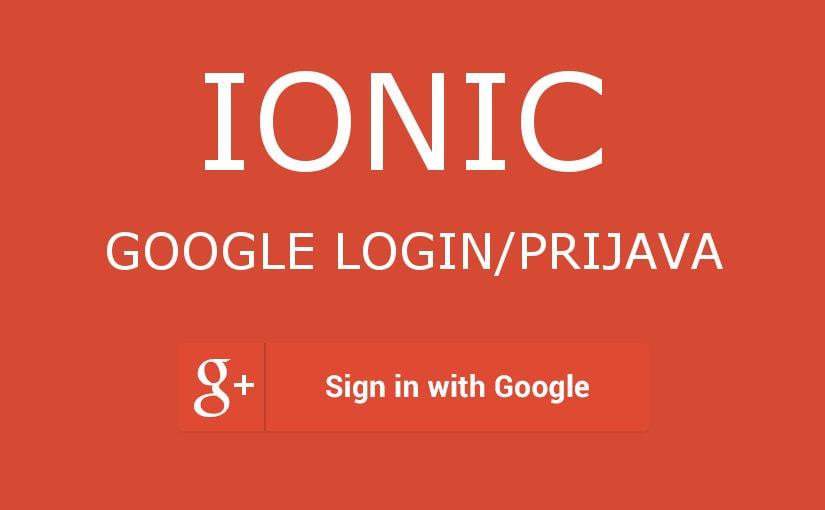 Ionic 3 – Google login/prijava