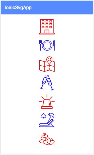 Korištenje SVG ikona umjesto Ionic ikona