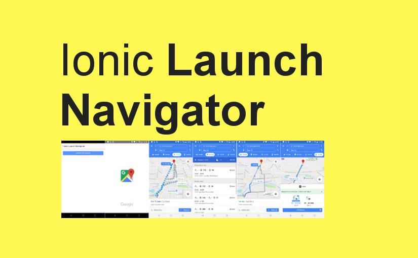 Ionic Launch Navigator – otvaranje nativne aplikacije za navigaciju