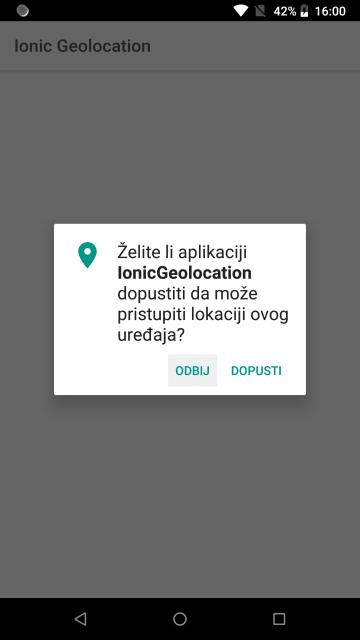 Ionic geolociranje – dinamičko dohvaćanje lokacije korisnika