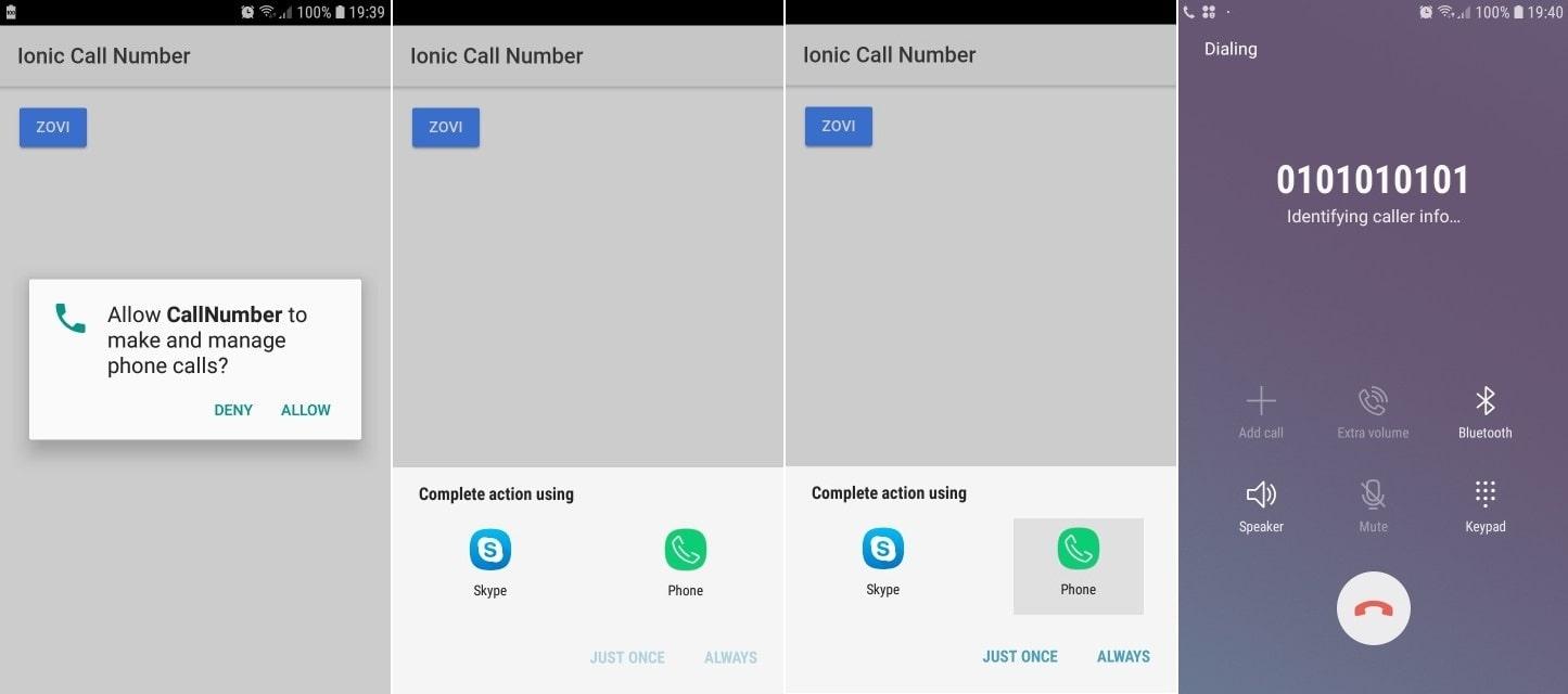Ionic 3 – uspostavljanje telefonskog poziva
