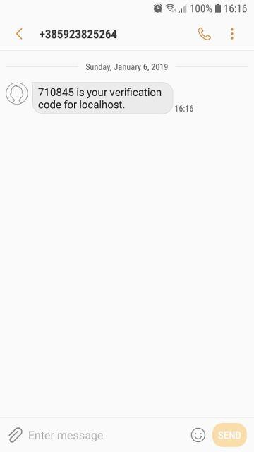 Firebase SMS