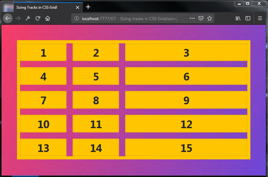 Sizing tracks in CSS Grid