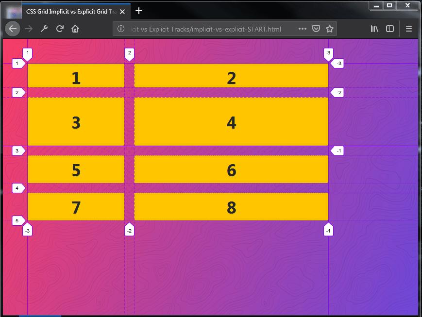 Explicit CSS Grid