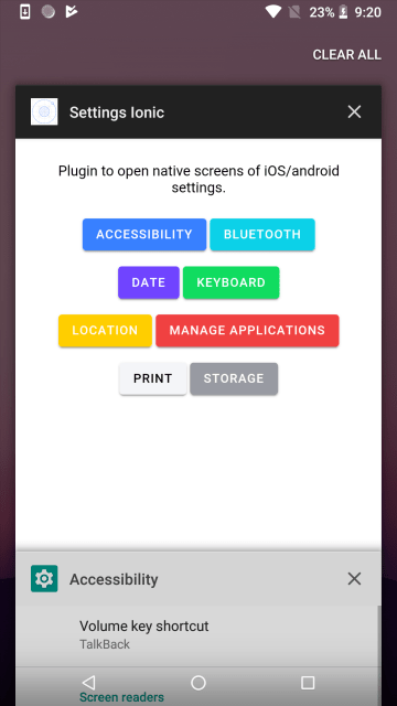 Open Native Settings