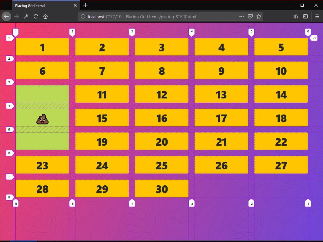 Placing Grid Items