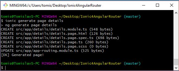 Ionic 4 & Angular Router