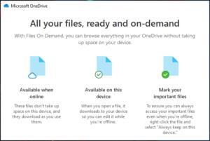 OneDrive Izvanmrežne mape