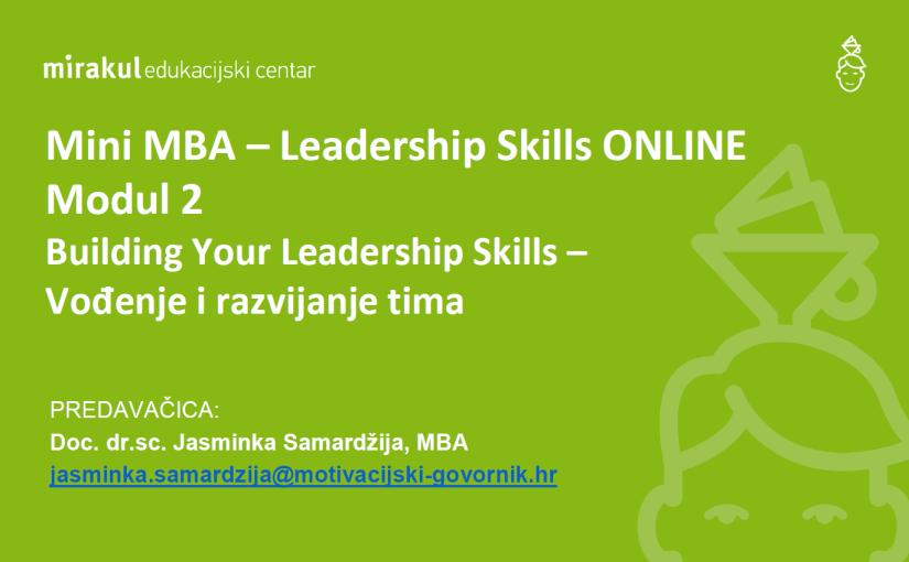Vođenje i razvijanje tima – iskustvo online seminara