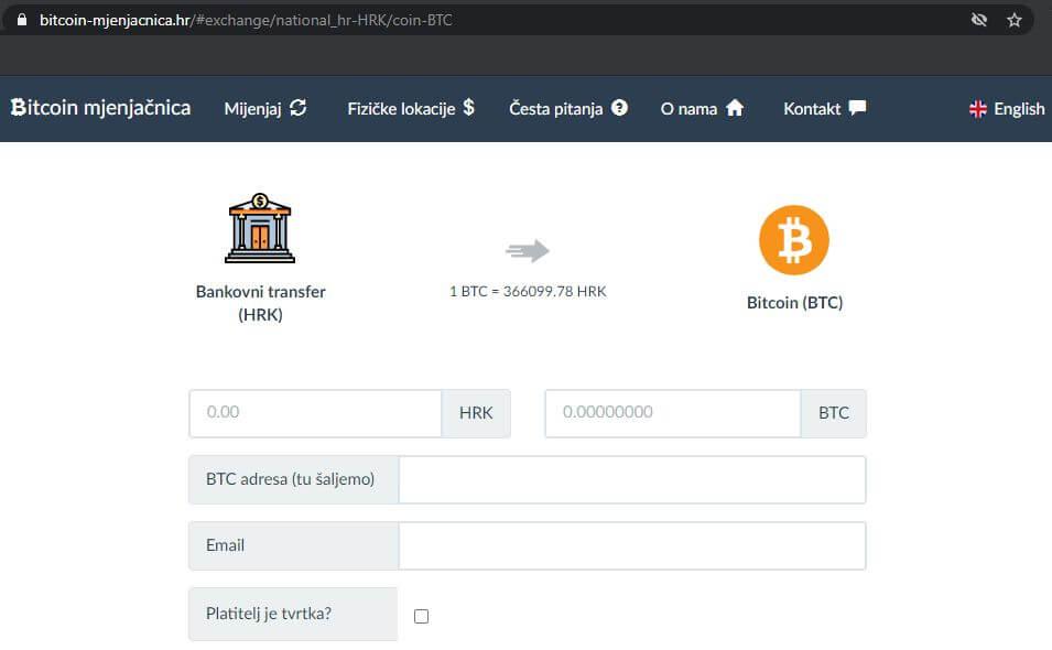 Bitcoin mjenjačnica - priprema kupovine