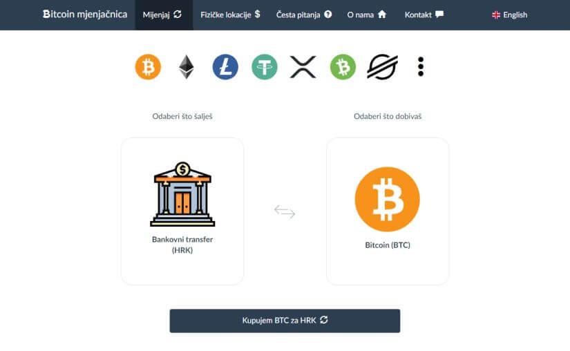 Bitcoin mjenjačnica